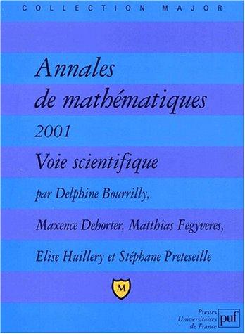 Annales de mathématiques 2001, voie S par Stéphane Preteseille