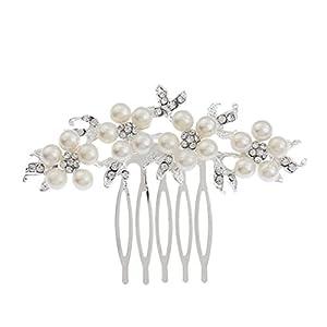 Damen Mädchen Haarkamm Brautschmuck Hochzeitsaccessoires Künstliche Perlen Strass Elegant Mode DIY Haarschmuck