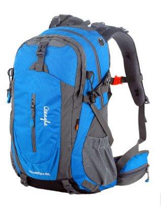 Cinny Wandern wasserdichtes Nylon Ripstop Sporttaschen Bergsteigen outsourcing 40L Federung Blue