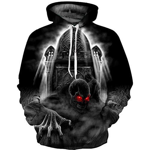 WOW-coat Tamaño Plus Camisetas Punk y gótica/Sudadera con...