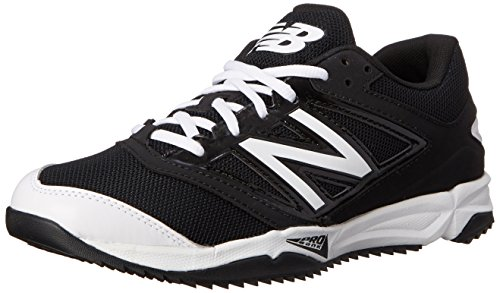 New Balance Men's T4040V3 Turf Baseball Shoe, Black/White, 10.5 D US Black/White