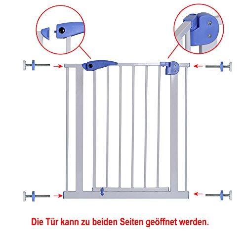 Yorbay Türschutzgitter Treppenschutzgitter 75cm-185cm Klemminstallation Ohne Bohren, 15 Varianten wählbar (95-105cm) - 3