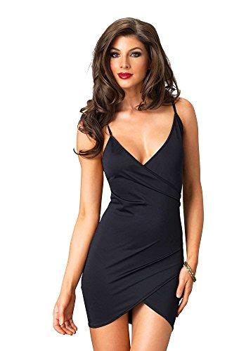 Preisvergleich Produktbild Leg Avenue LO86607 - Wickelkleid Maria, Größe M, schwarz
