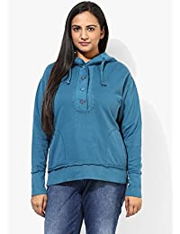 GRAIN Teal Blue Regular fit Cotton Jackets for Women