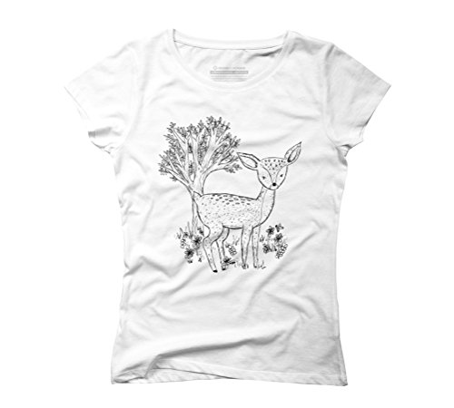 Fawn Women's Graphic T-Shirt - Design By Humans White