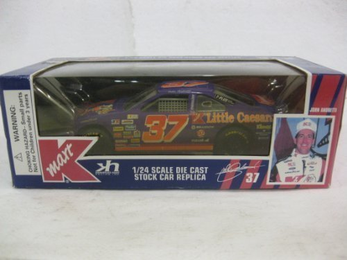 john-andretti-37-k-mart-little-caesars-ford-thunderbird-nascar-1995-edition-in-purple-diecast-124-sc