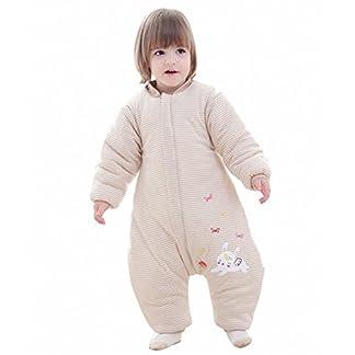 Saco de dormir para bebé, invierno, niño, niña, recién nacido, pelele – 2,5 TOG con pies, para todo el año