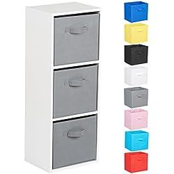 Hartleys Unité Cube Blanc a 3 Niveaux - Choix de Boites de Rangement