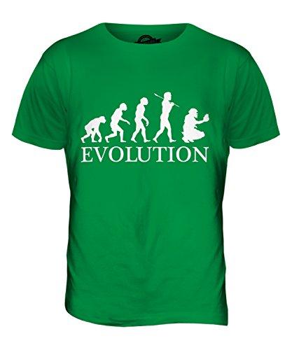 CandyMix Baseball Catcher Evolution Des Menschen Herren T Shirt Grün