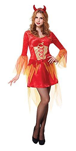 Bristol novelty ac658 costume diavolo ragazza