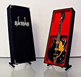 Miniatur-Gitarrennachbildung: 'Country Gentleman'-Gitarre von George Harrison,Modell, Mini-Rock-Nachbildung aus Holz, Souvenir, Miniatur-Gitarre und Auslagen-Ständer