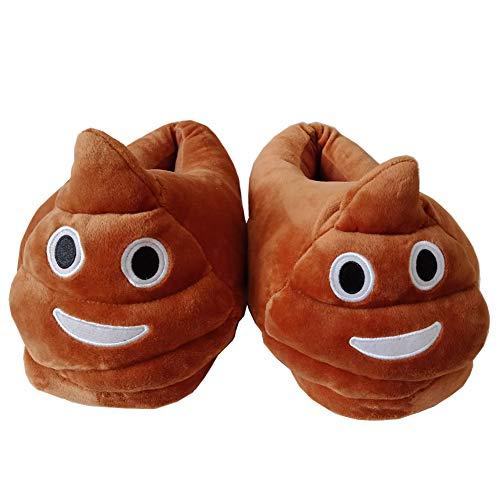 Poop Emoji Hausschuhe Winter schuhe Cartoon Plüsch Hause Pantoffeln Universalgröße 35 - 39 Plüsch Baumwolle Hausschuhe Unisex Herren und Damen Kostümschuhe für Erwachsene Witziges Geschenk für Weihna