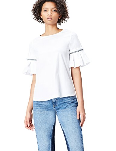 Find. Frill Sleeve Blusa para Mujer
