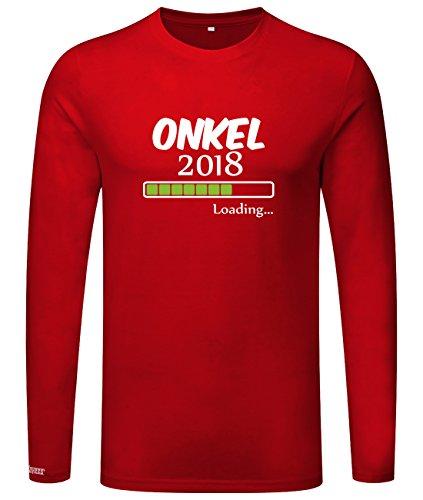 Onkel loading 2018 - Herren Langarmshirt Rot