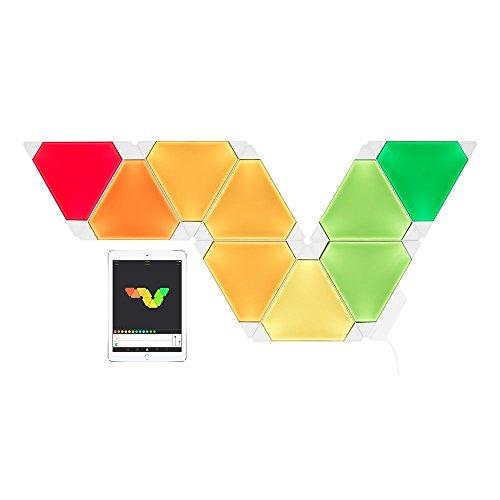 nanoleaf Light Panels (Aurora) Rhythm Starter Kit - 9x Modulare Smarte LED & Sound Modul - Lichtpanels mit App Steuerung [Erweiterbar | 16 Millionen Farben | Alexa kompatibel | Plug and Play | iOS (Apple Home Kit kompatibel) & Android] [Energieklasse A] - 7