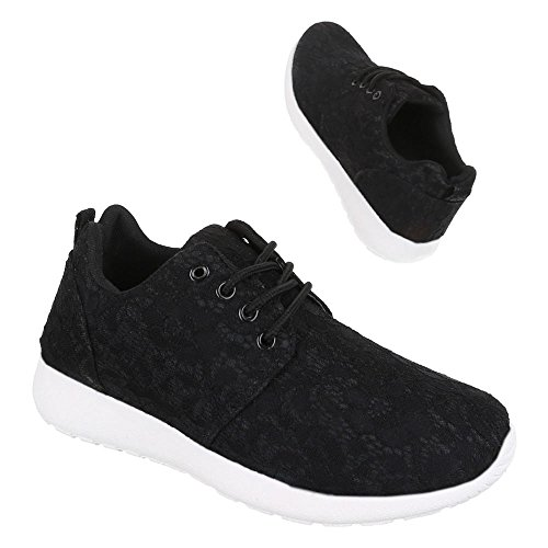 Mesdames Chaussures, R 21, loisirs chaussures sneakers formateurs Noir - Noir