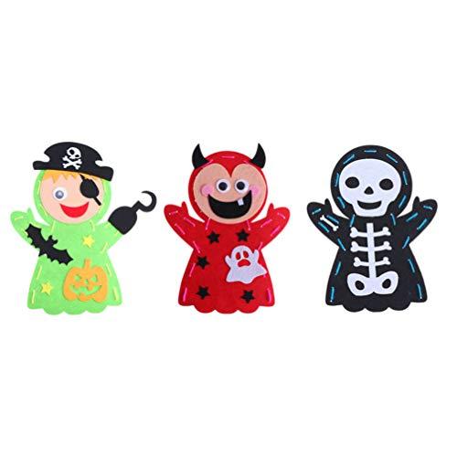 Amosfun Halloween DIY Fieltro muñeca Hecha Mano Materiales