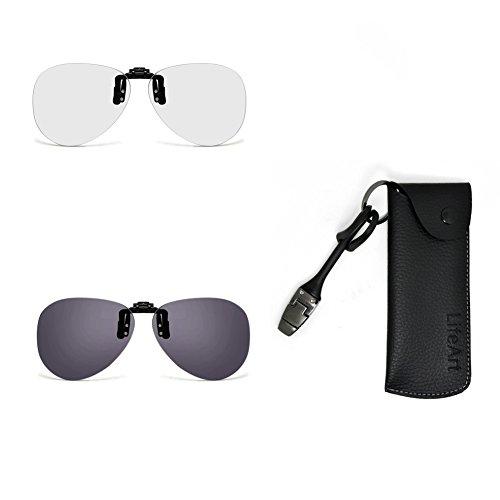 LifeArt Herren Sonnenbrille schwarz schwarz Einheitsgröße (Tv Kaufen Clear)