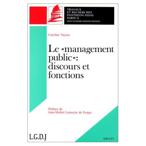 Le management public : Discours et fonctions