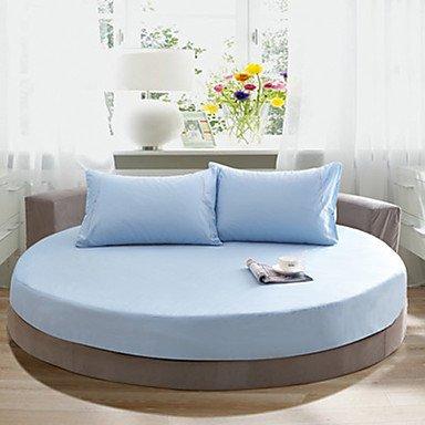 Osy rund massiv Baumwolle Spannbetttuch Zwei Meter im Durchmesser (1Tagesdecke und 2Kissenbezüge 48cm * 72cm) Queen himmelblau