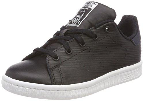 adidas Stan Smith C, Chaussures de Fitness Mixte Enfant, Noir (Negbás/Negbás/Plamet 000), 35 EU