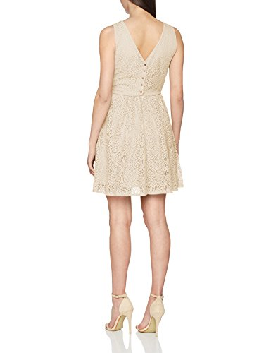 Vero Moda Vmsasha Sl Short Lace Dress Jrs, Vestito Donna Beige (Buttercream)