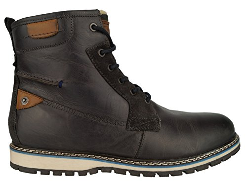 360 Herren-Schuhe Boots Kurzschaft Leder-Stiefel Bandit Stiefeletten Lukas (44, (Bandit Schwarz Stiefel)