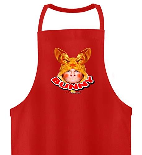 Shirtee Woody Feldmann Bunny - Hochwertige Grillschürze -Einheitsgröße-Feuerrot (Herren Woody Shirt)