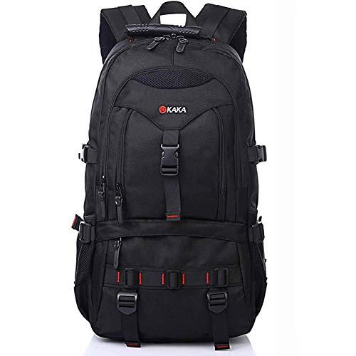 p Backpack Reiserucksack 35L Wasserdicht Outdoor Wanderrucksacke Daysack für Business Arbeit Schule Universität Schwarz ()