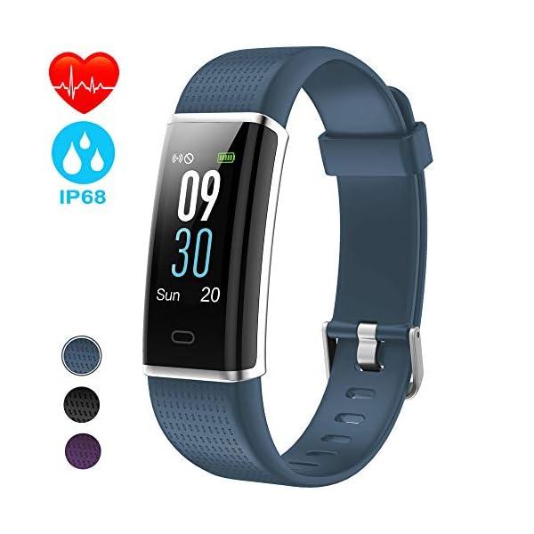 NAIXUES Smartwatch, Reloj Inteligente IP67 con Presión Arterial, 10 Modos de Deporte, Pulsómetro, Monitor de Sueño, Notificaciones Inteligentes, Smartwatch Hombre Mujer para iOS y Android (negro2) 1