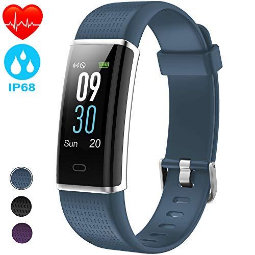 NAIXUES Pulsera Actividad Impermeable IP68, Pulsera Inteligente con Pantalla Color GPS Pulsómetro Monitor Ritmo Cardíaco y Sueño 14 Modos de Deporte para Hombre y Mujer para iOS y Android