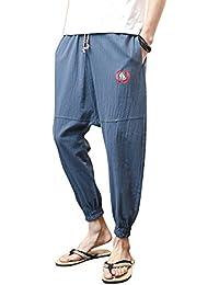 AnyuA Pantalón Harem Cintura Elástico De Los Pantalones Deporte Casuales  para Hombre 44f534a1584b