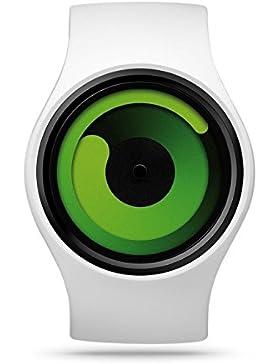 ZIIIRO Gravity Snow Green Unisex Silikon / Edelstahl Watch - designed in Germany