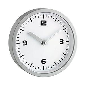 TFA Dostmann Badezimmeruhr, Quarzuhr, feuchtigkeitsabweisend, 4 große Saugnäpfe - Befestigung, weiß, 60.3012