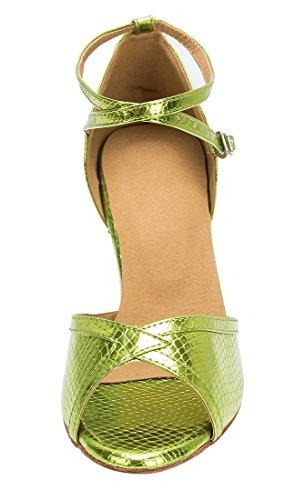 TDA ,  Damen Peep Toes 7.5cm Heel Green