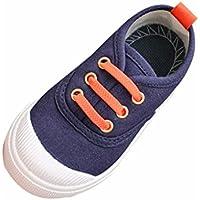 BBsmile zapatos de bebé Baby Fashion Color caramelo Lona Zapatillas Zapatos casuales para niños (Azul marino, 23)