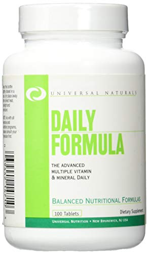 Universal Nutrition, Daily Formula Standard, 100 Tablets Ultimate Universal-tablet