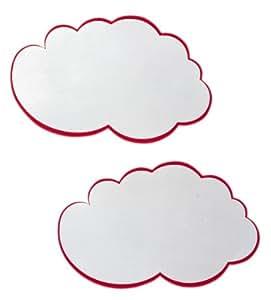 Franken UMZ WM Lot de 20 cartes en forme de nuage 14 x 23 cm (Blanc/rouge)