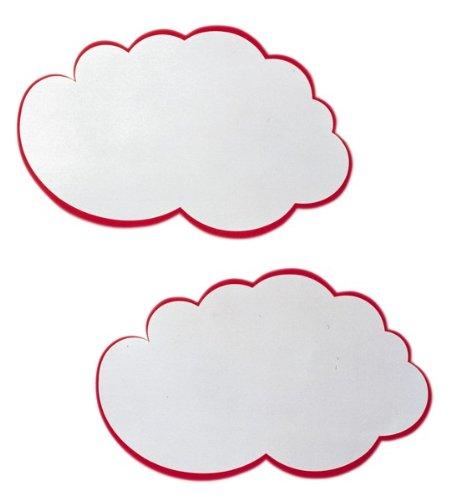Franken MKS51 - Lote de 30 tarjetas adhesivas para presentaciones con forma de nube, color blanco con el contorno rojo, 230 x 150 mm