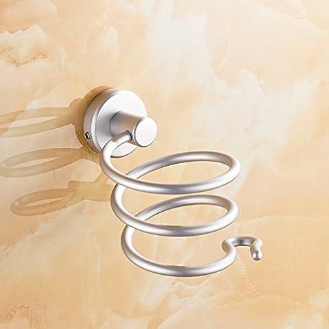 sdkky Platz Aluminium Haartrockner Rack Kanäle Rack Regal WC WC Badezimmer der Wandhalterung Wandhalter, der zugibt eine Haar Salon hair dryer support