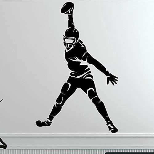 Creativo Rugby Piayer Etiqueta de La Pared Para La Decoración Casera Salón...