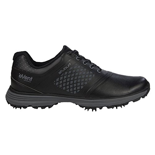 2016 Stuburt Helium Tour eVent Waterproof Mens Spikeless Golf Shoes-Leather Black 10UK