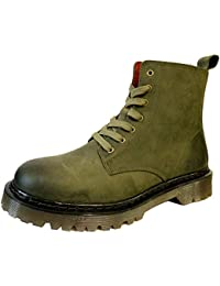 97d091a519 Oak & Hyde - Brixton 7 - Rifle Green - Leather Ankle Boots