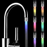 Hermosapoty Mini-Wasserhahn mit LED-Beleuchtung, für Küche und Badezimmer