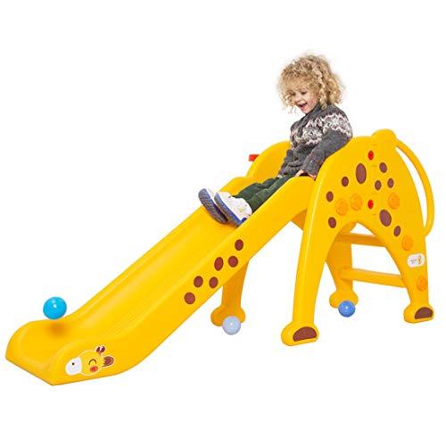 Plastica Scivolo per Bambini per Esterno/Interno/Giardino Arrampicarsi Giochi,Yellow