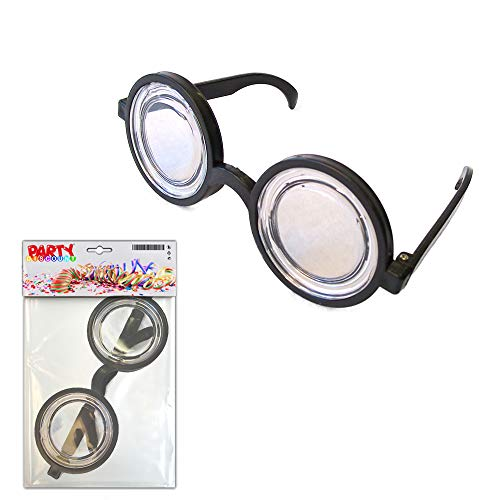 PARTY DISCOUNT ® Riesen-Augen-Brille - Lupenbrille - Doktorbrille - Doofie-Brille