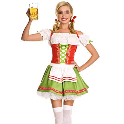 Sexy Oktoberfest Bier Mädchen Kostüm Magd Französisch Deutschland Bayerischen Kurzarm Kostüm Dirndl Für Erwachsene Frauen Cosplay - Französisch Magd Kostüm