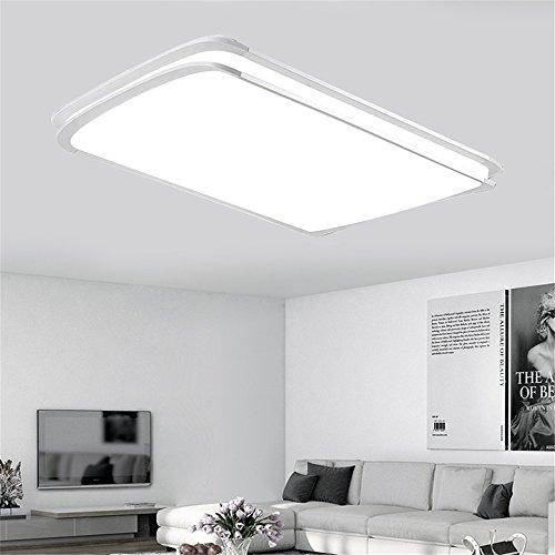 MCTECH® 96W LED Deckenleuchte Deckenlampe Kaltweiß Doppelte-Schichten Modern Panel Leuchte Flur Wohnzimmer bad Küche Schlafzimmer Küche Energie Sparen Licht Wandleuchte Lampe (96W Kaltes Weiß) -