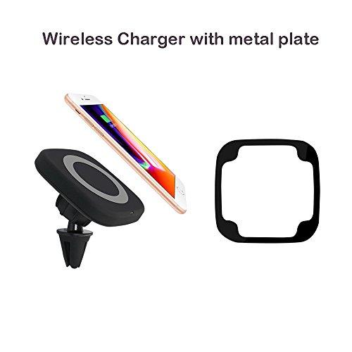 yehua Magnetverschluss Auto Qi Ladegerät–Wireless Charging Dock tragbar mit Air Vent Mount Holder