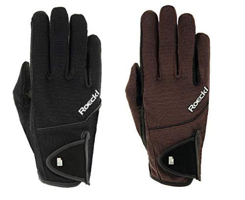 Roeckl Sports Handschuh Modell Milano, Unisex Reithandschuh, schwarz, 7